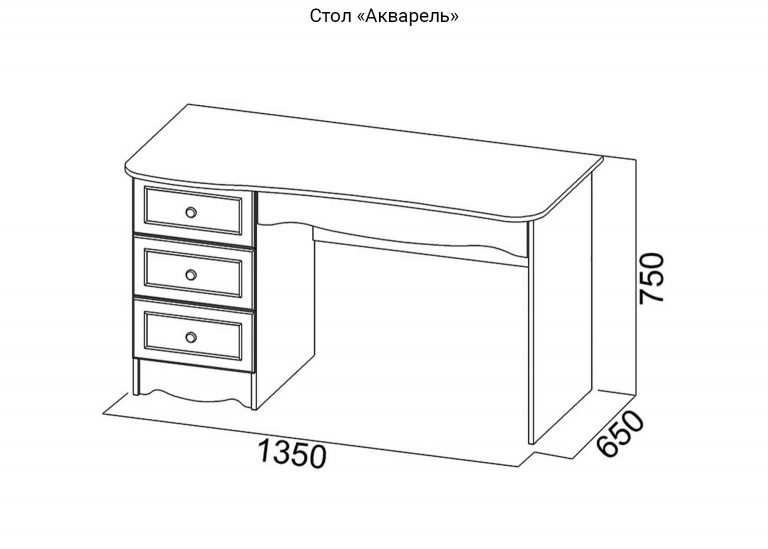 Детская Акварель Стол схема SV-Мебель