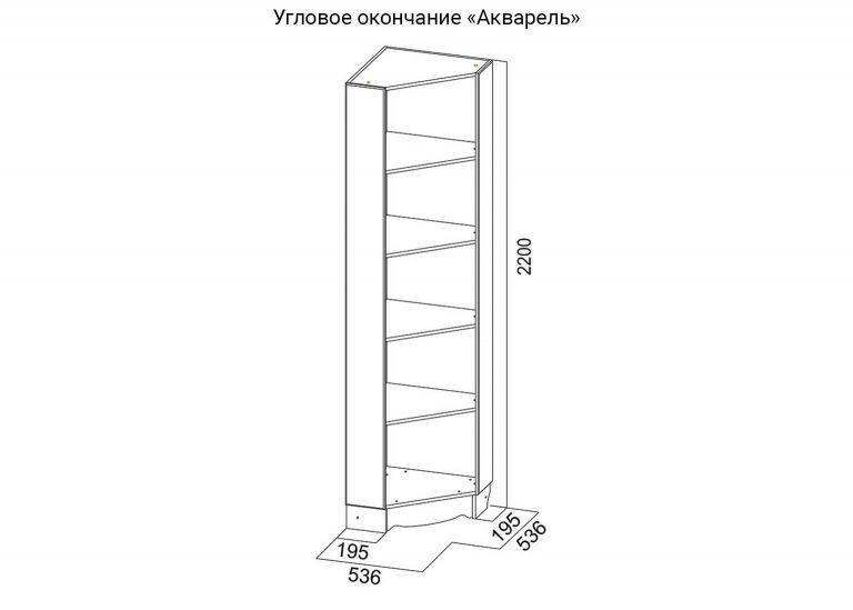Детская Акварель Угловое окончание схема SV-Мебель