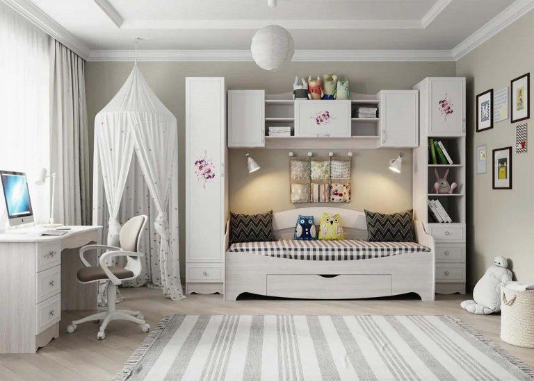 Детская Акварель Ясень анкор светлый Цветы SV-Мебель