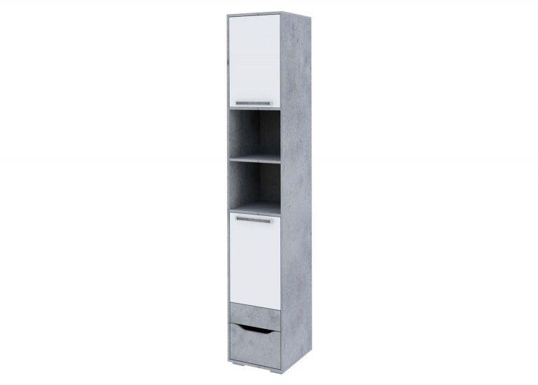 Детская Грей Пенал с ящиком Цемент светлый Белый без фотопечати SV-Мебель