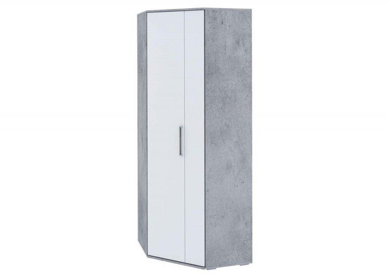 Детская Грей Шкаф угловой Цемент светлый Белый SV-Мебель