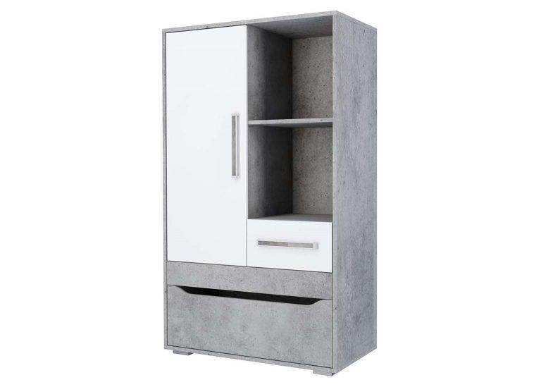 Детская Грей Тумба многофункциональная Цемент светлый Белый без фотопечати SV-Мебель