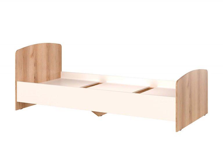 Детская Рио Дуб Делано Белый Кровать одинарная SV-Мебель
