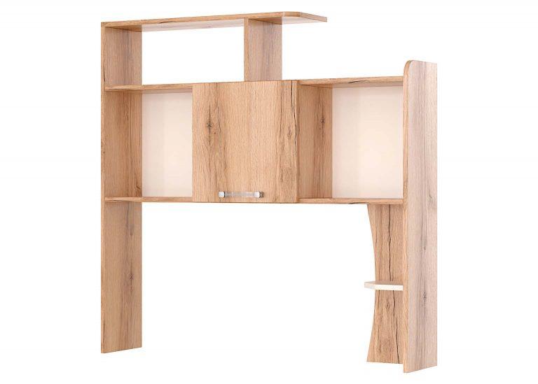 Детская Рио Дуб Делано Белый Полка-надстройка SV-Мебель