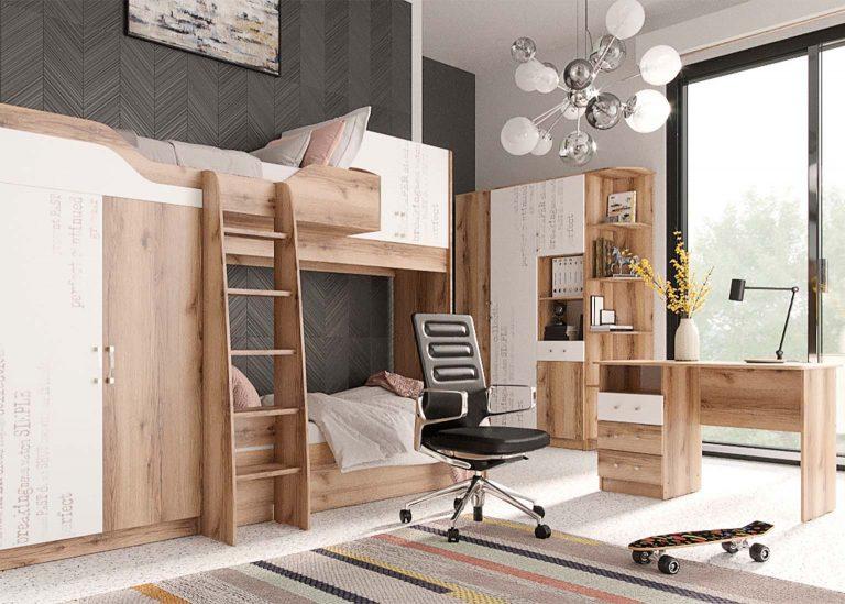 Детская Рио Дуб Делано Белый SV-Мебель