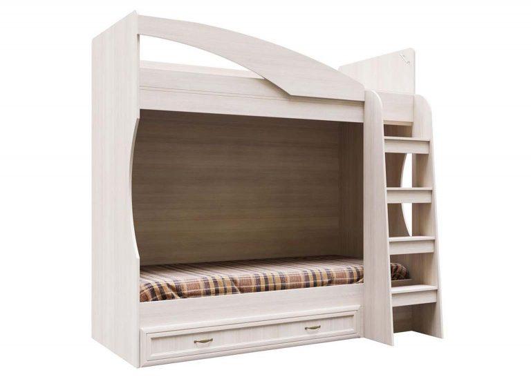 Детская Вега ДМ-16 Кровать двухъярусная с ящиком 0,8х1,86 Сосна Карелия SV-Мебель