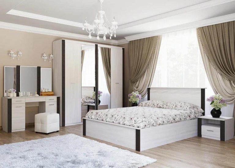 Гамма 20 Спальня Ясень анкор светлый / Венге SV-Мебель