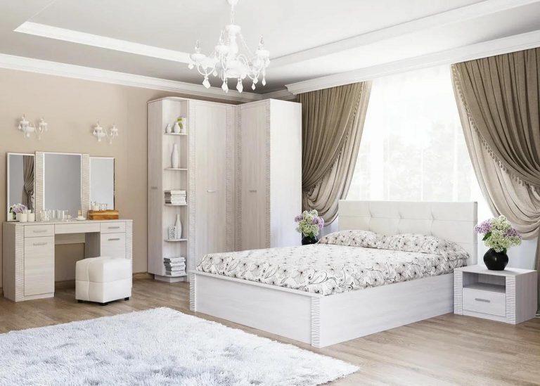 Гамма 20 Спальня Ясень анкор светлый / Сандал светлый SV-Мебель