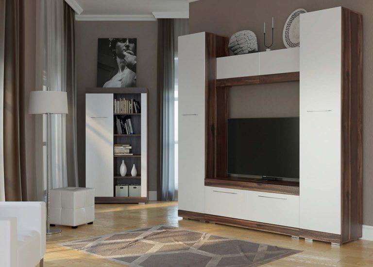 Гостиная Ницца Истанбул / Белый глянец SV-Мебель