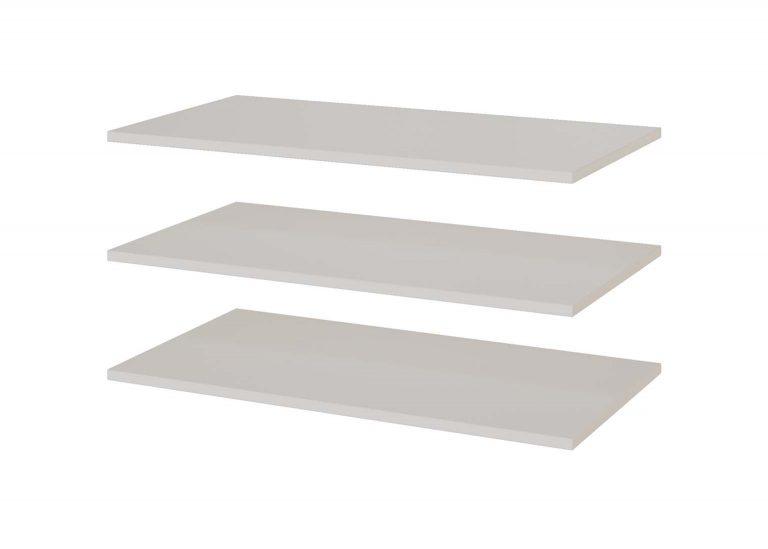 Гостиная Соло Полки для шкафа двухстворчатого универсального Белый / Белый глянец SV-Мебель
