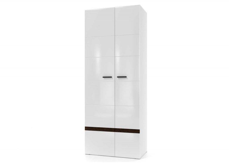 Гостиная Соло Шкаф двухстворчатый универсальный Белый / Белый глянец SV-Мебель