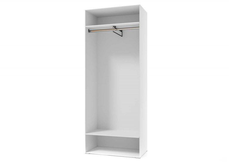Гостиная Соло Шкаф двухстворчатый универсальный открытый Белый / Белый глянец SV-Мебель