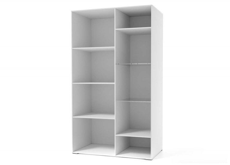 Гостиная Соло Шкаф-витрина открытая Белый / Белый глянец SV-Мебель