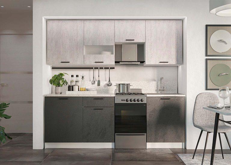 Кухня Лилия Цемент тёмный / Цемент светлый SV-Мебель