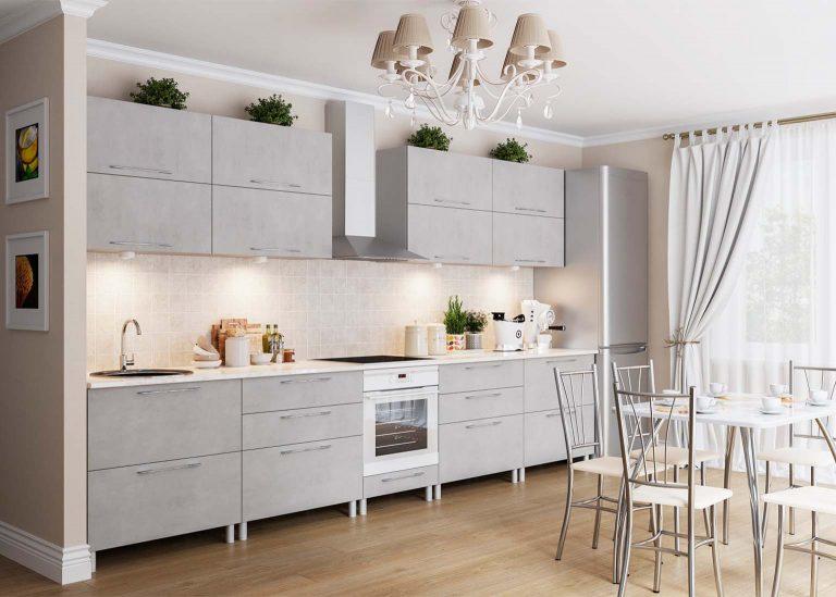 Кухня Лофт Бетон серый SV-Мебель