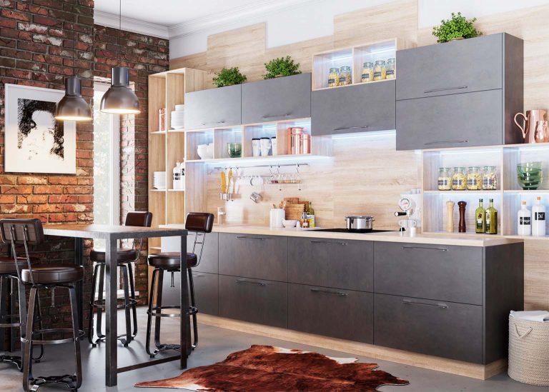 Кухня Лофт Камень тёмный SV-Мебель