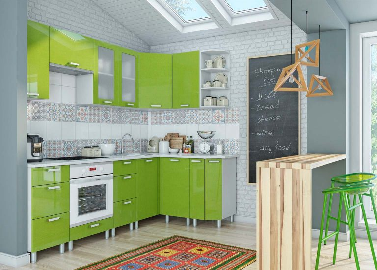 Кухня Модерн Олива металлик SV-Мебель