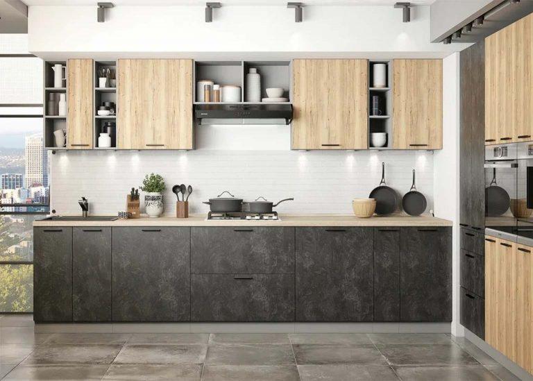 Кухня Модус Цемент тёмный / Цемент светлый SV-Мебель