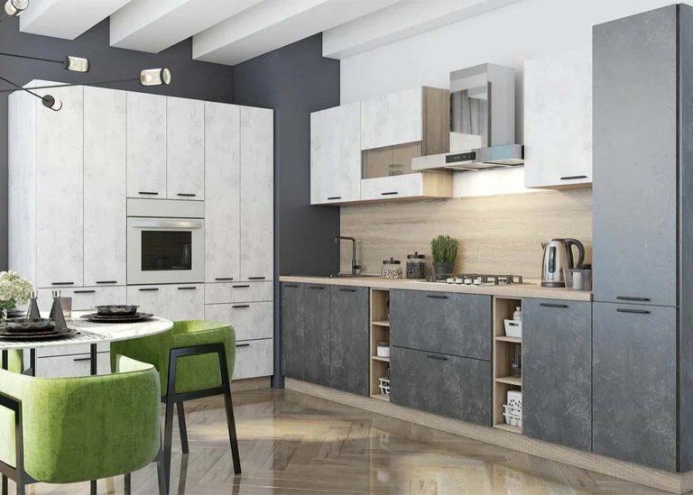 Кухня Модус Галифакс табак / Цемент светлый SV-Мебель