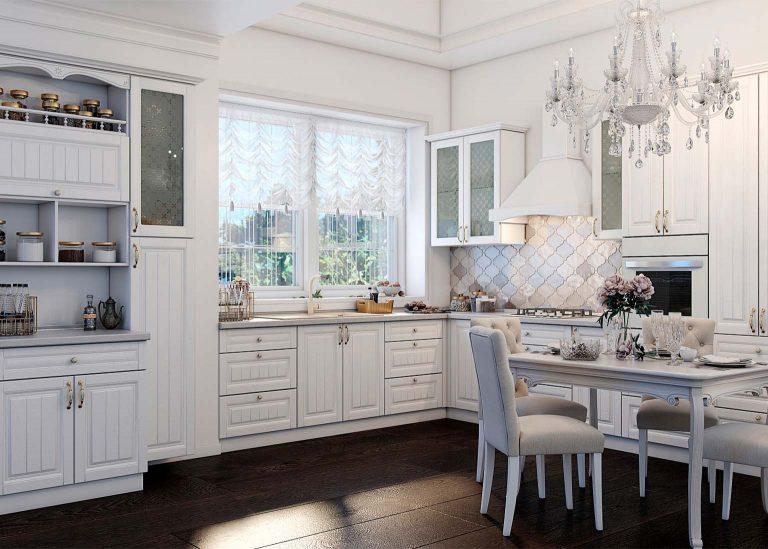 Кухня Прованс Белый текстурный SV-Мебель