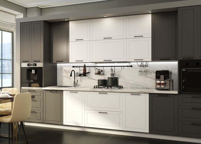 Кухня Вектор Графит / Бланж SV-Мебель
