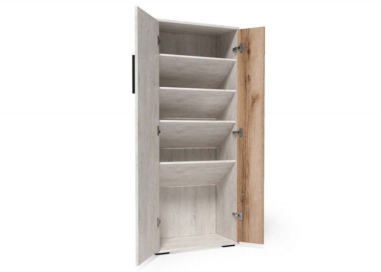 Обувница открытая Сканди Сосна Санторини Дуб Делано SV-Мебель