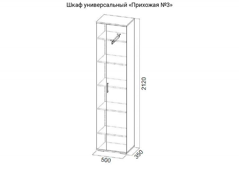 Прихожая №3 Шкаф универсальный схема SV-Мебель