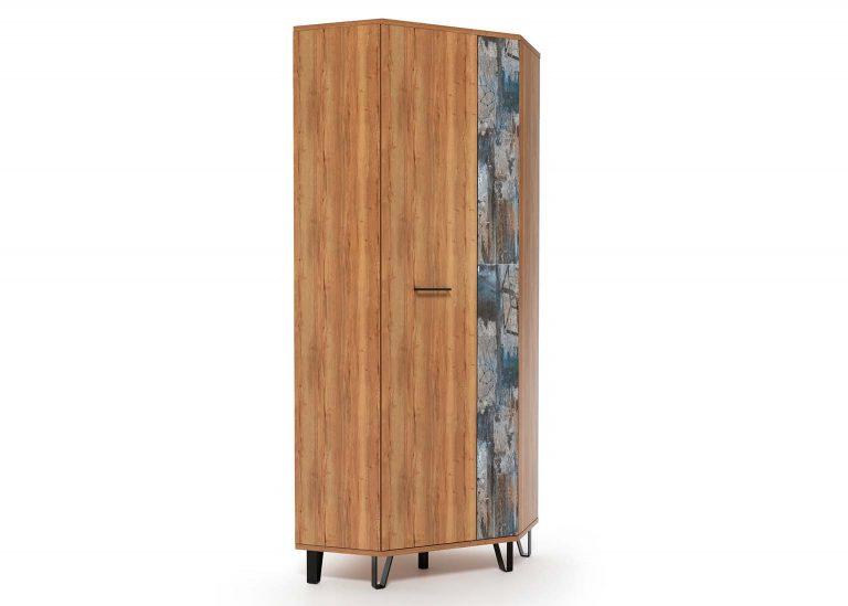 Прихожая Колибри Делано Графика Шкаф угловой SV-Мебель