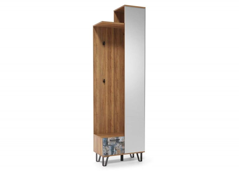 Прихожая Колибри Делано Графика Вешалка с зеркалом 600 SV-Мебель