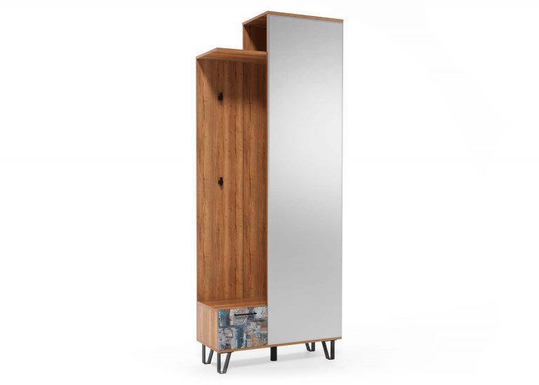 Прихожая Колибри Делано Графика Вешалка с зеркалом 800 SV-Мебель