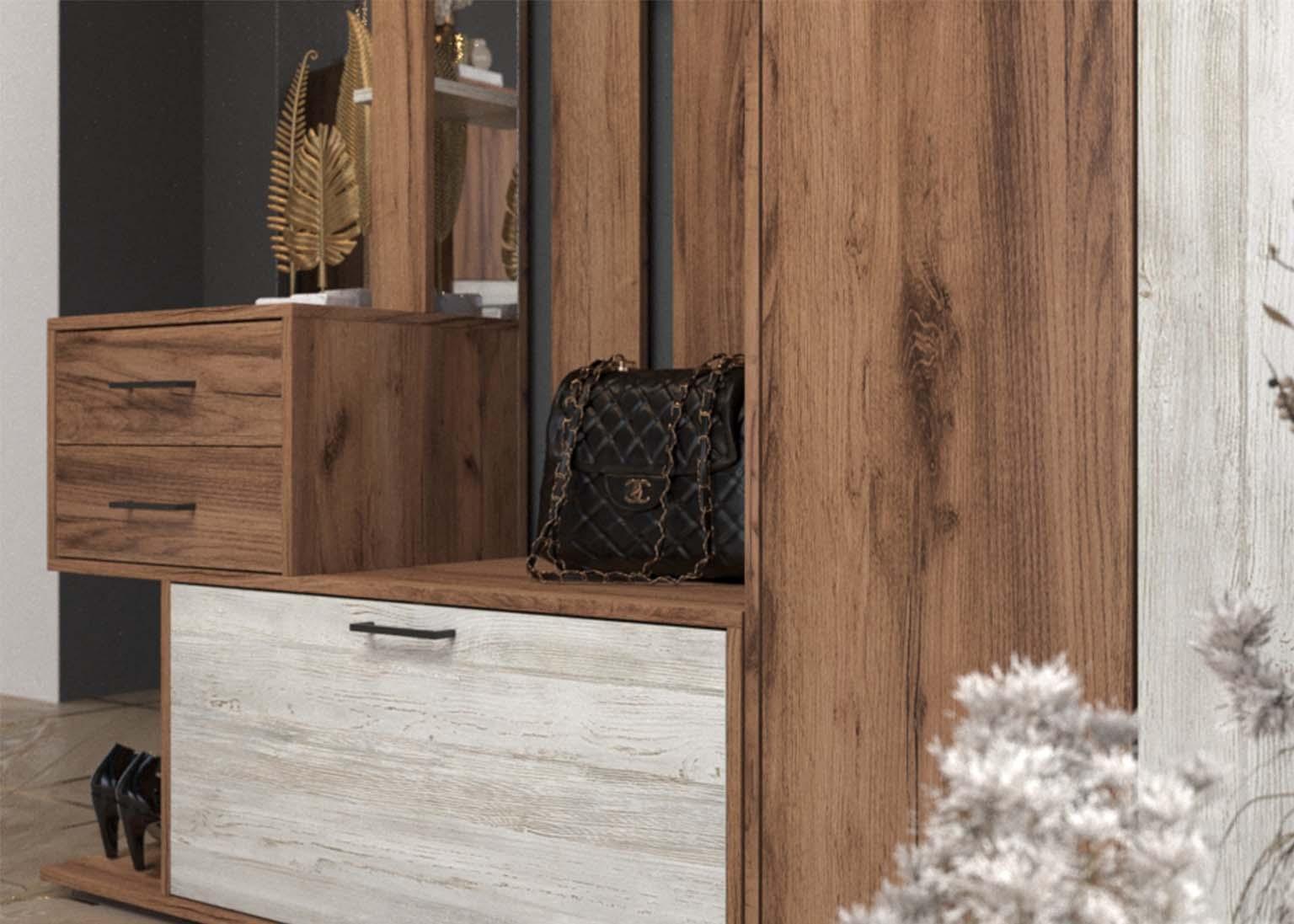 Прихожая Сканди Дуб Делано Сосна Санторини SV-Мебель