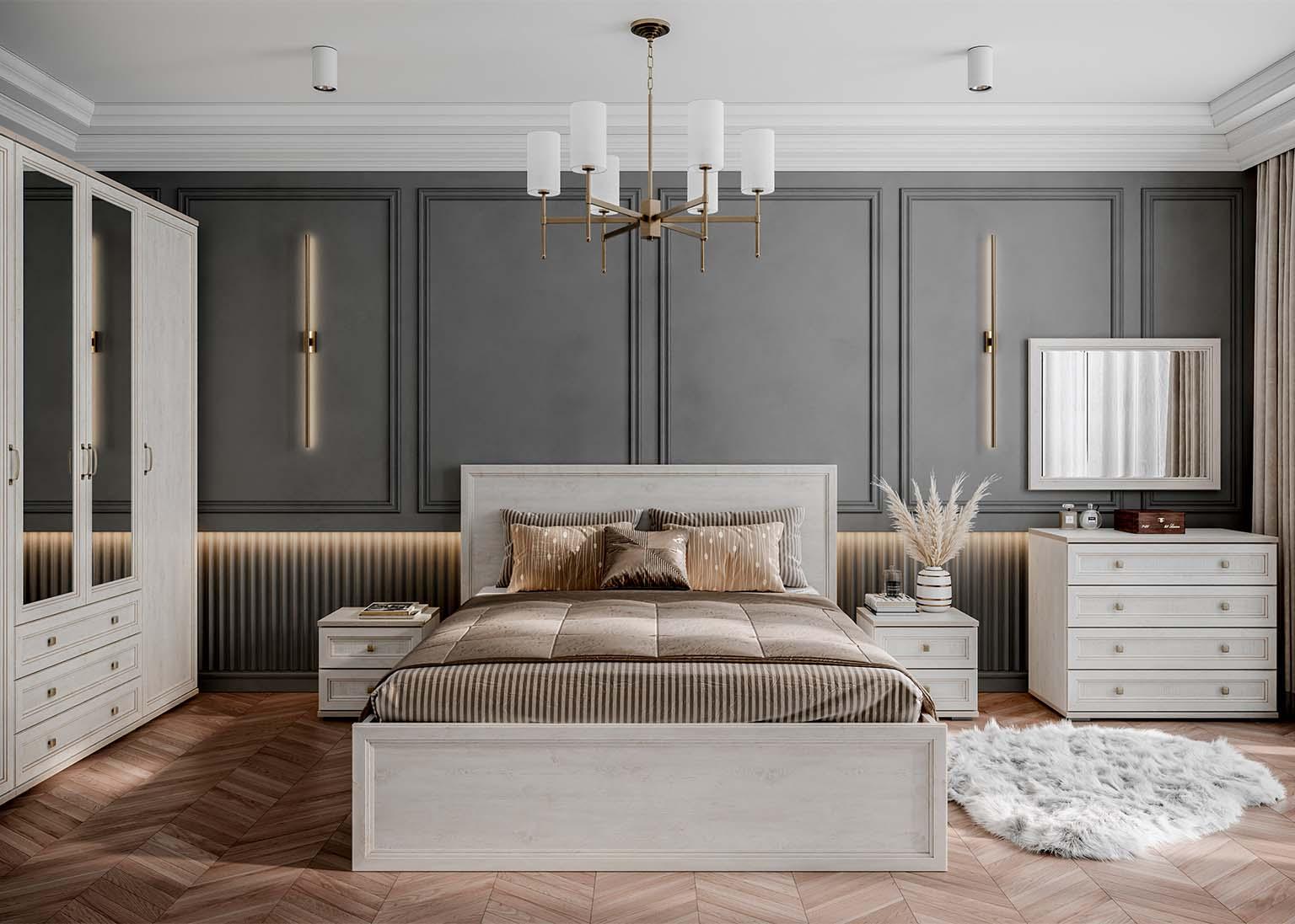Спальня Александрия Сосна Санторини SV-Мебель