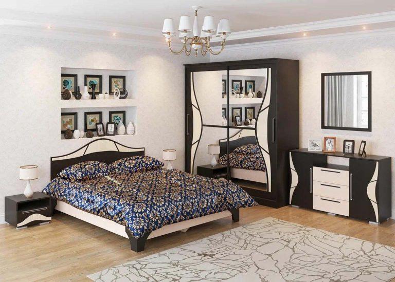 Спальня Лагуна 5 Дуб Венге / Дуб Млечный SV-Мебель