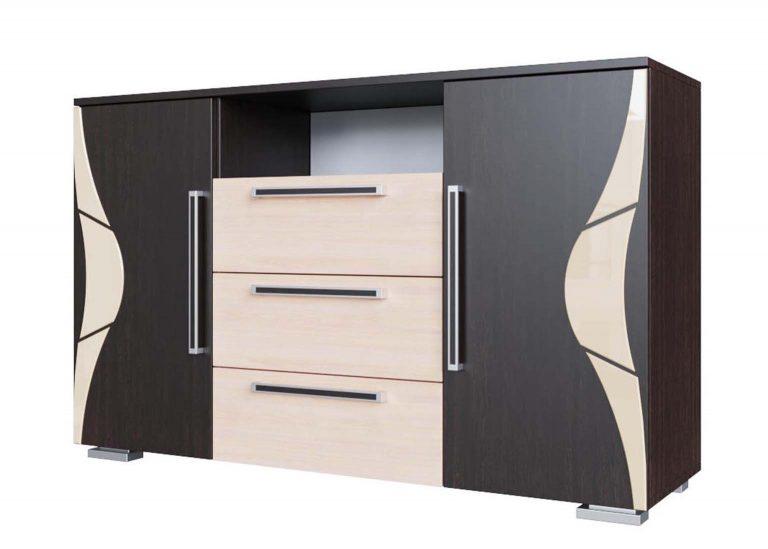 Спальня Лагуна 5 Комод Дуб Венге / Дуб Млечный SV-Мебель