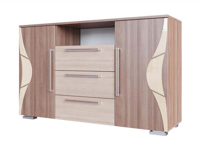 Спальня Лагуна 5 Комод Ясень Шимо темный / Ясень Шимо светлый SV-Мебель