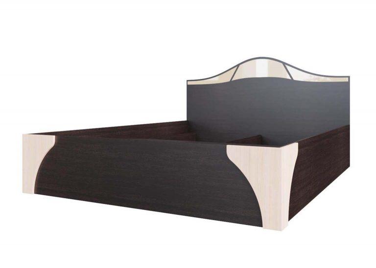 Спальня Лагуна 5 Кровать двойная №2 универсальная 1,6х2,0 Дуб Венге / Дуб Млечный SV-Мебель