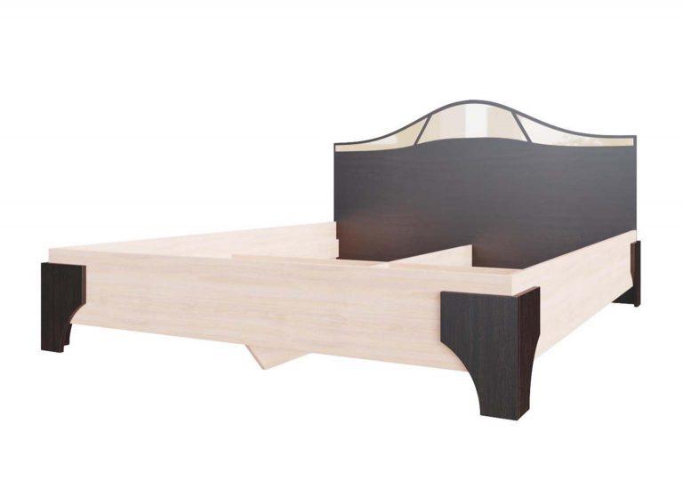 Спальня Лагуна 5 Кровать двойная 1,6х2,0 Дуб Венге / Дуб Млечный SV-Мебель