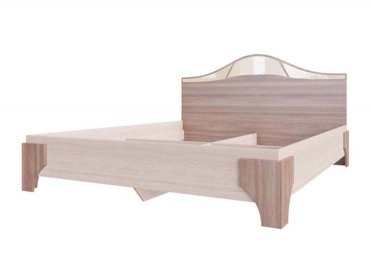 Спальня Лагуна 5 Кровать двойная 1,6х2,0 Ясень Шимо темный / Ясень Шимо светлый SV-Мебель