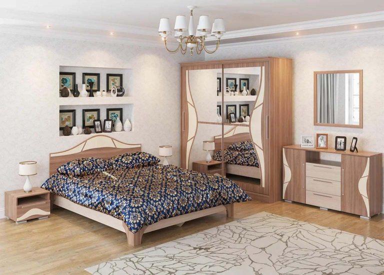 Спальня Лагуна 5 Ясень Шимо темный / Ясень Шимо светлый SV-Мебель