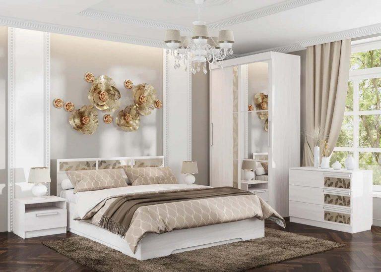 Спальня Николь 1 Ясень Анкор светлый SV-Мебель