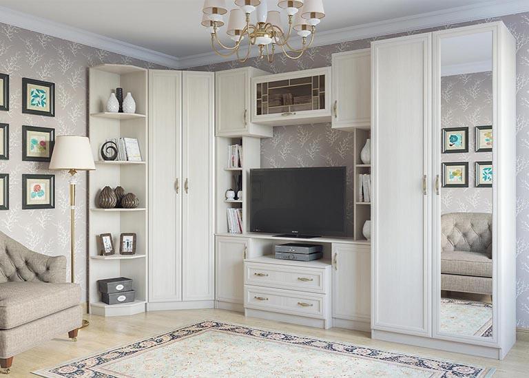 Вега Гостиная Сосна Карелия SV-Мебель