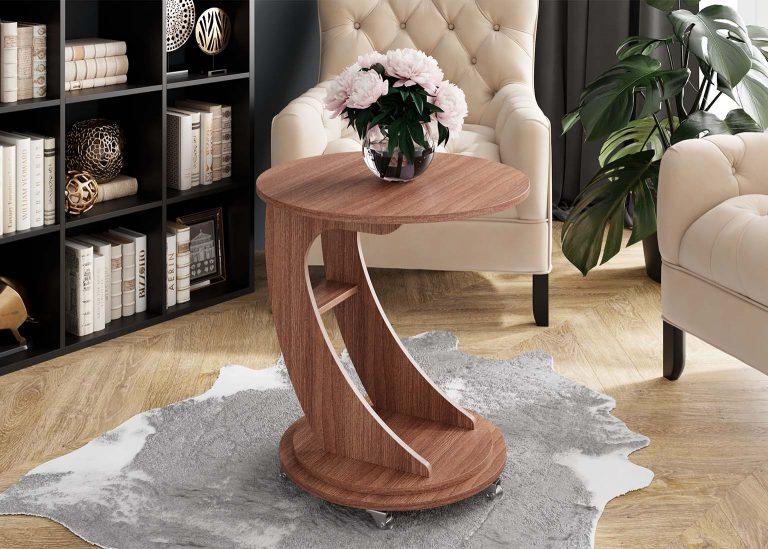Журнальный стол №9 Ясень Шимо тёмный SV-Мебель