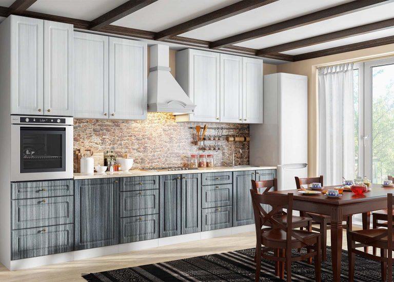 Кухня Венеция Сандал светлый Сандал тёмный SV-Мебель