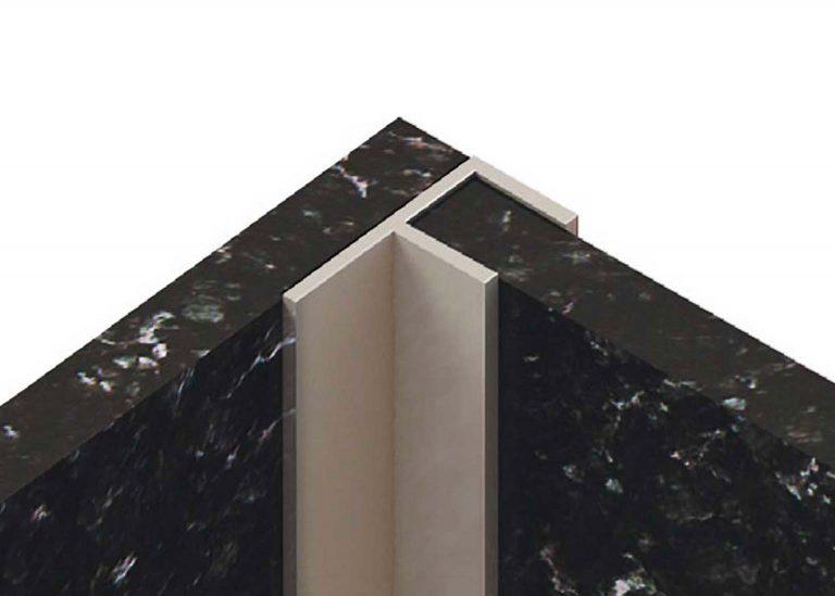 Планка для стеновой панели угловая F 600 мм