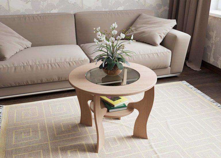 Стол журнальный №5 Ясень Шимо светлый SV-Мебель