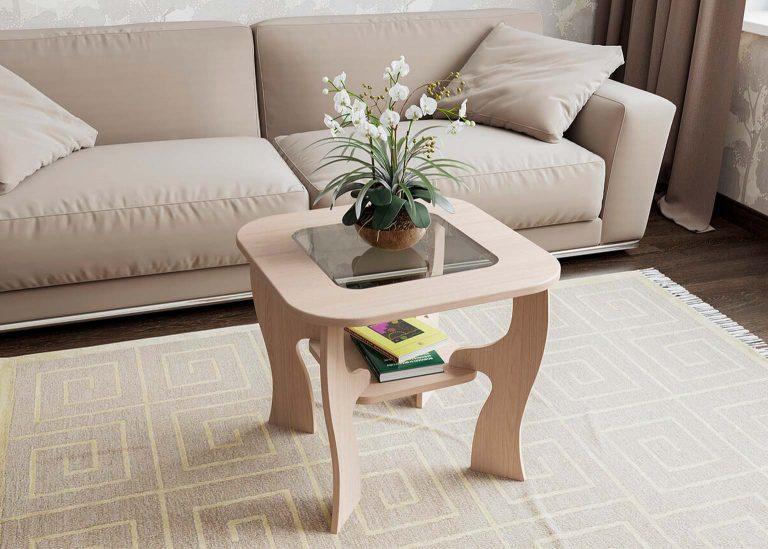 Стол журнальный №6 Ясень Шимо светлый SV-Мебель