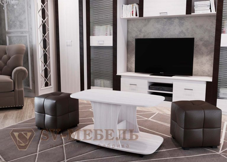 Стол журнальный №8 Ясень Анкор светлый SV-Мебель