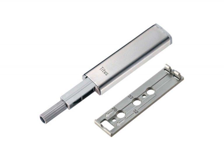Толкатель PUSH LATCH с прямой пластиной +2 винта 2 шурупа 915-0X59-381-K2-DIY-4 SV-мебель