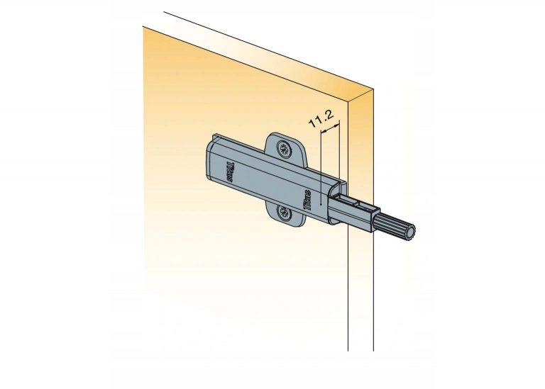 Толкатель PUSH LATCH с прямой пластиной +2 винта +2 шурупа 915-0X59-381-K2-DIY-4 SV-мебель
