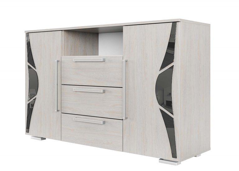 Спальня Лагуна 5 Комод Ясень Анкор светлый SV-Мебель